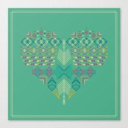 Aztec Heart Canvas Print