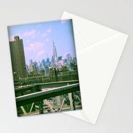 Manhattan from the BK bridge Stationery Cards