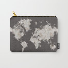 GRAPHIC ART Abstract World Map | rose gold & marble Carry-All Pouch