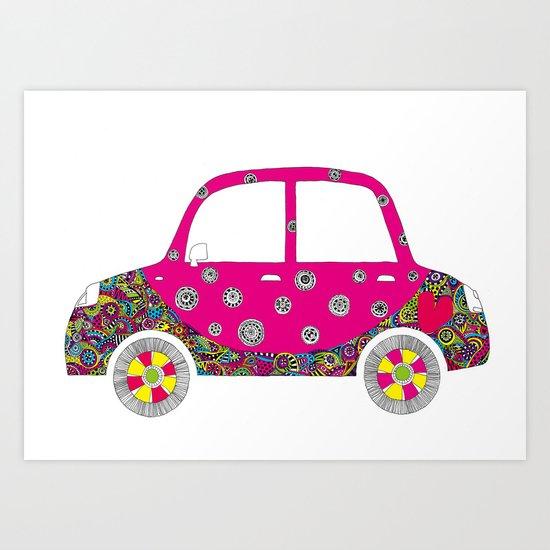Colorful car Art Print