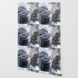 Calm but Dramatic Light Monochromatic Black & Grey Abstract Wallpaper