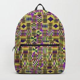 Kente Cloth // Blue-Violet & Goldenrod Backpack