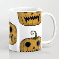 pumpkin Mugs featuring Pumpkin by Michelle Wenz