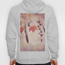 Autumn composition on colorful leaves background Hoody