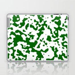 Spots - White and Dark Green Laptop & iPad Skin