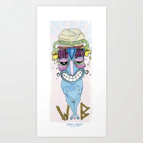 urban turban Art Print