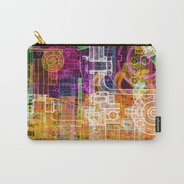Grunge tech print Carry-All Pouch