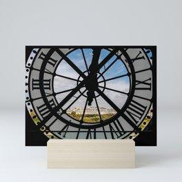 Clock at the Musee d'Orsay Mini Art Print