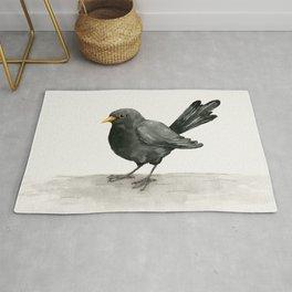 Blackbird ink drawing Rug