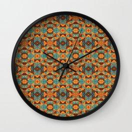 Chacana Turquesa Tostada Wall Clock