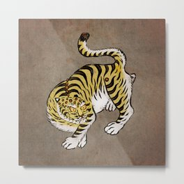 Minhwa: Tiger Yellow Type (Korean traditional/folk art) Metal Print
