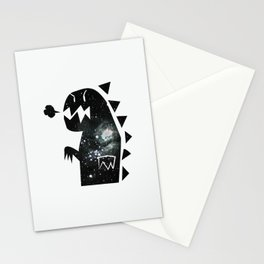 Galactic dinosaur Stationery Cards