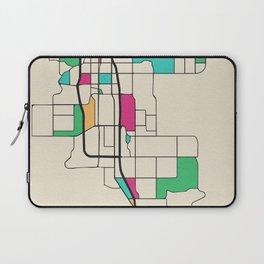 Colorful City Maps: Anchorage, Alaska Laptop Sleeve