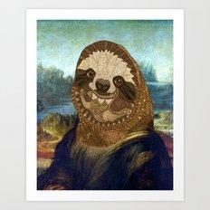 Sloth Lisa Art Print