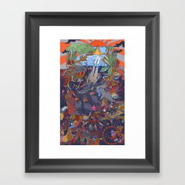 Dive into the Unknown Framed Art Print