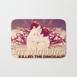 Gay Marriage Killed the Dinosaurs Bath Mat