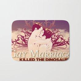 Gay Marriage Killed the Dinosaurs Bath Mat