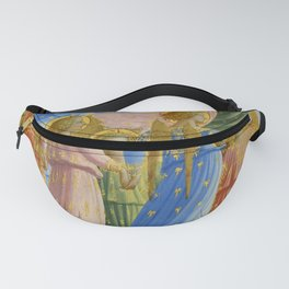 """Fra Angelico (Guido di Pietro) """"The Dormition and Assumption of the Virgin"""" (4) Fanny Pack"""