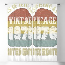 45 Year Old Gifts Vintage 1976 Limited Edition 45th Birthday Blackout Curtain