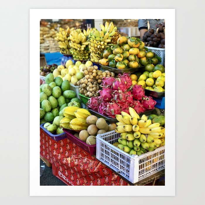 Bali Fruit Stand Art Print By Emmail7 Society6