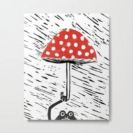 Mr. Frog's Umbrella Metal Print