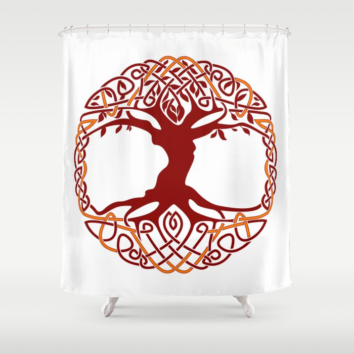 Yggdrasil Tree Of Life Shower Curtain By Defilemorality