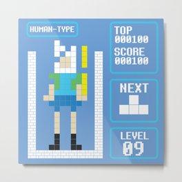 TETRIS: Human Type Metal Print