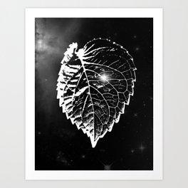 Space Leaf Art Print