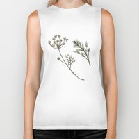 botanical Biker Tanks featuring Dill Botanical by CHAR ODEN