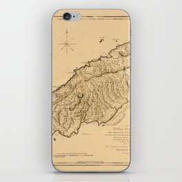 Map Of Tobago 1776 iPhone Skin
