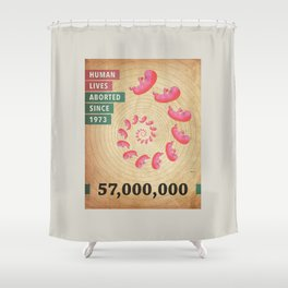 Fifty Seven Million Abortions Shower Curtain