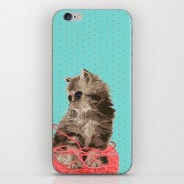 Messy Lil Cat iPhone Skin