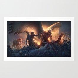 Bird Person's Big Day Art Print