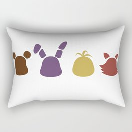 a bear, bunny, chick and a fox Rectangular Pillow