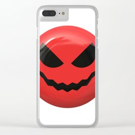 Red face design Clear iPhone Case