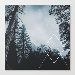 Forest Geometry Canvas Print