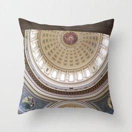 Wisconsin Capitol Building Rotunda 1 Throw Pillow