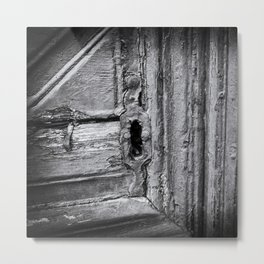 Keylock close-up in a Old Wooden Door | Doors of the World | Rethymnon, Greece, Europe | Black & White Photography | Travel Photography | Photo Print | Art Print Metal Print