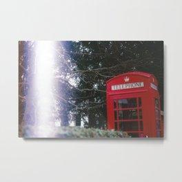 Phonebox Metal Print