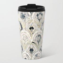 Monochrome Art Deco Marble Tiles Travel Mug