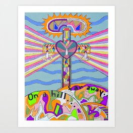 """The Old Rugged Cross"" Art Print"