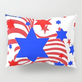 PATRIOTIC JULY 4TH AMERICAN FLAG ART Pillow Sham