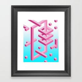 Isometric Adventure Framed Art Print