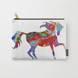 Horse Colorful Silhouette Carry-All Pouch