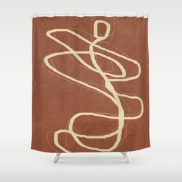 Abstract Lines II Shower Curtain