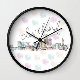 Cleveland Skyline RER Wall Clock
