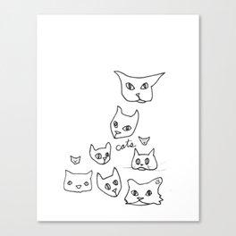Cats Cat Canvas Print
