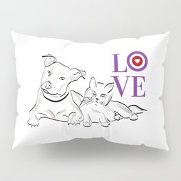 Cat & Dog LOVE Gifts Pillow Sham