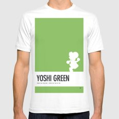 No36 My Minimal Color Code poster Yoshi White Mens Fitted Tee MEDIUM