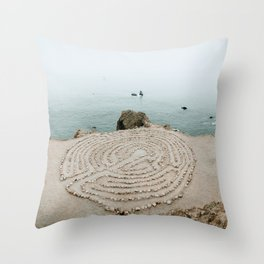 Lands End Labyrinth, San Francisco II Throw Pillow